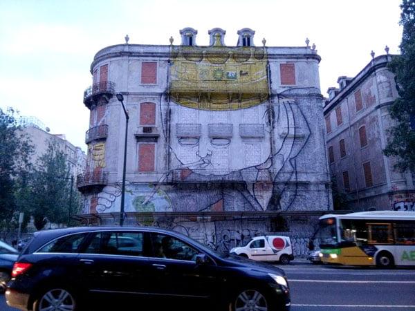 Portugal - Lisbon Street Art Crono Project Blu man