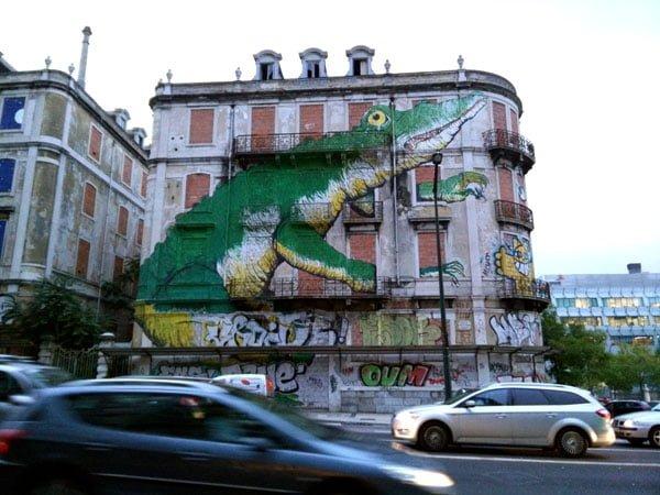 Portugal - Lisbon Street Art Crono Project Ericailcane Croc