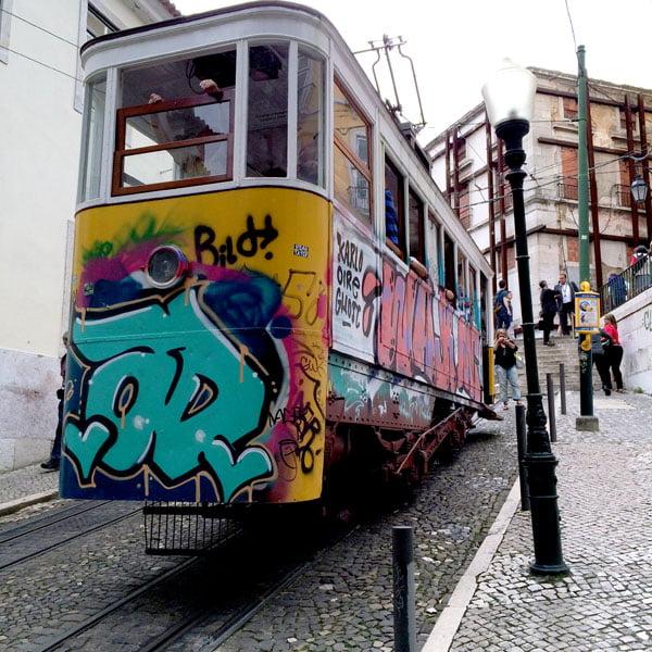 Portugal - Lisbon Street Art GAU tram