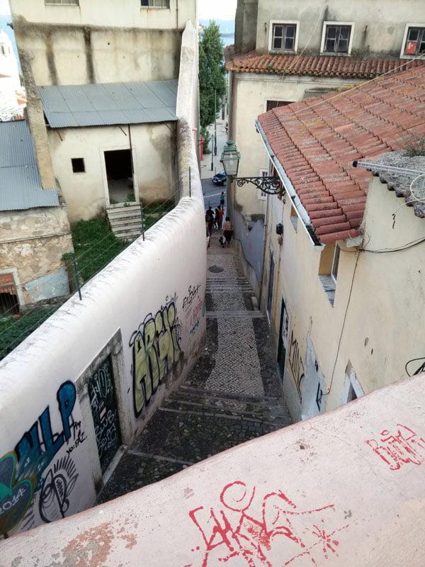 Portugal - Lisbon Street Art Patio Dom Fradique Beco Do Maldonald