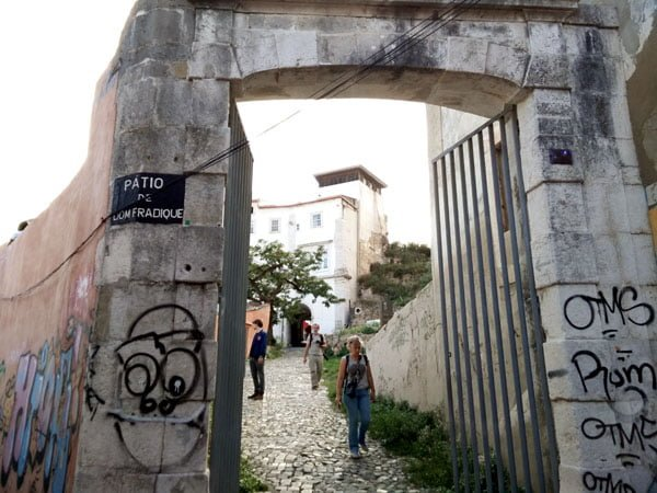 Portugal - Lisbon Street Art Patio Dom Fradique arch