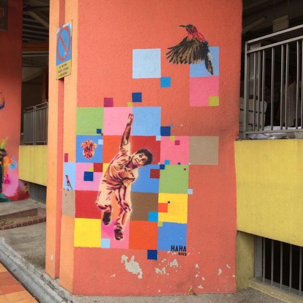 Singapore Street Art - Haha Cricket 3