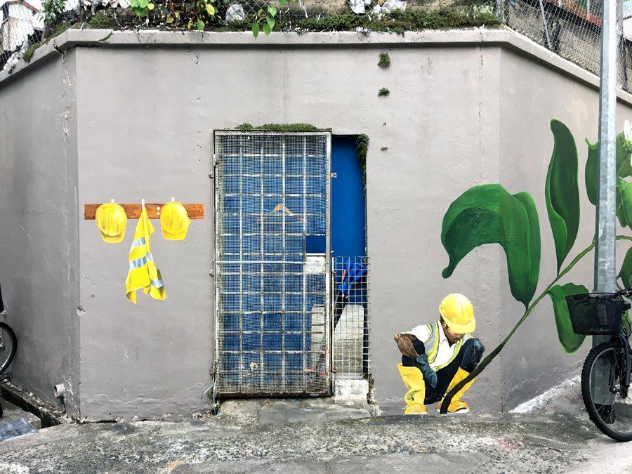Singapore Street Art - Little India Jasmine Worker