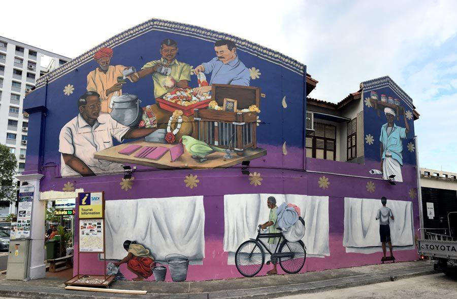 Singapore Street Art - Little India Psyfool
