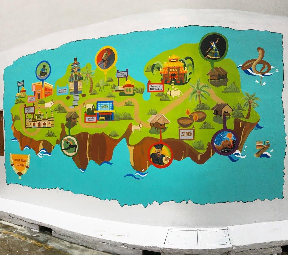 Singapore Street Art Little India Veerasamy Ashua Sailor