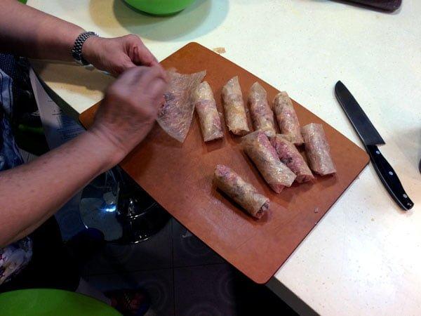 Traveling Spoon - Ngoh Hiang making