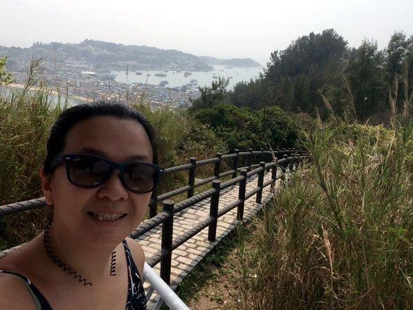 Hong Kong Cheung Chau - Northern Lookout Selfie