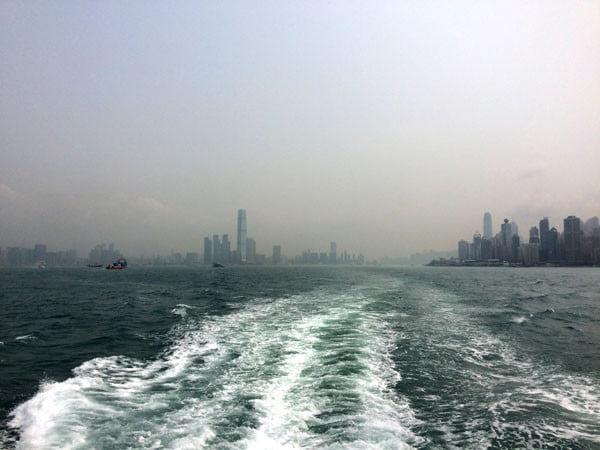 Hong Kong Ferry Wake