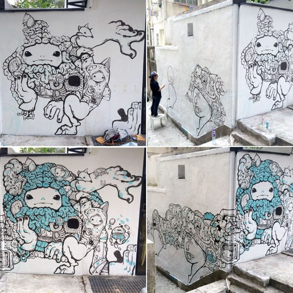 Hong Kong Street Art - Bao Progress