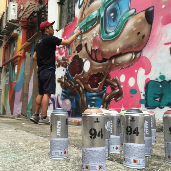 Hong Kong Street Art - exldmanila spray cans