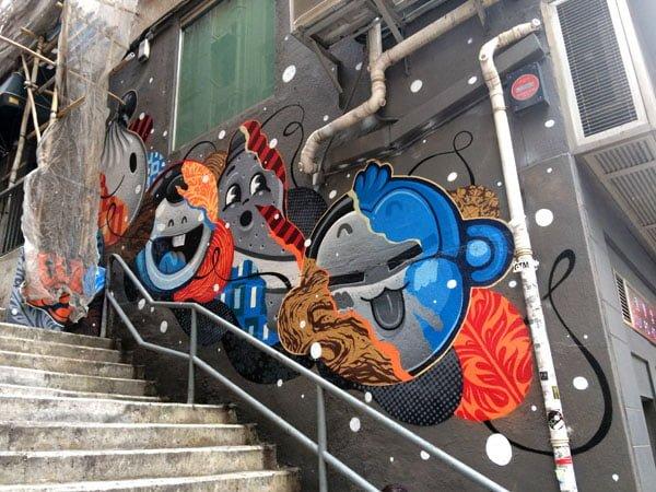 Hong Kong Street Art - Tank Lane