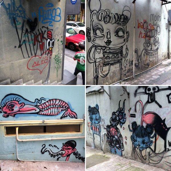 Hong Kong Street Art - Water Lane Random 1