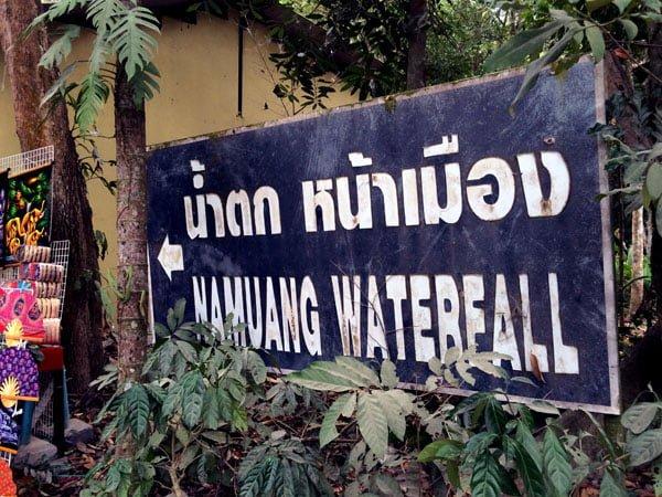 Koh Samui - RNavigator Namuang Waterfall Sign