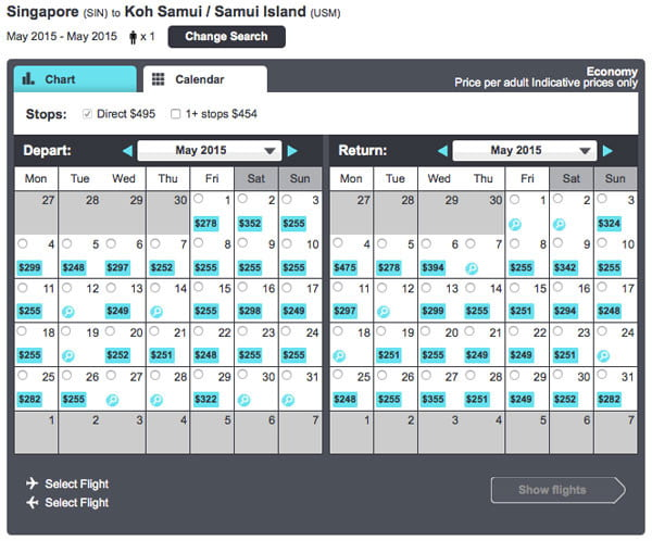 Skyscanner Cheapest Day to Fly