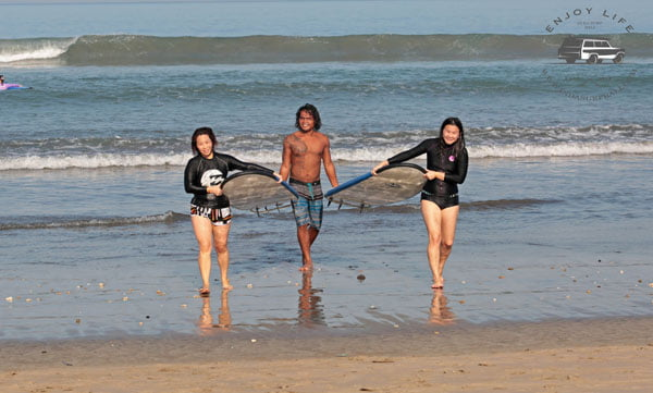 Bali Indasurf Carrying Surfboards