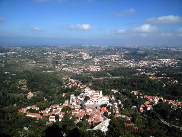 Portugal - Sintra Moorish Castle View Town Centre