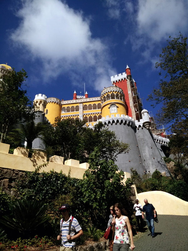 Portugal - Sintra Pena Palace Colourful Exterior