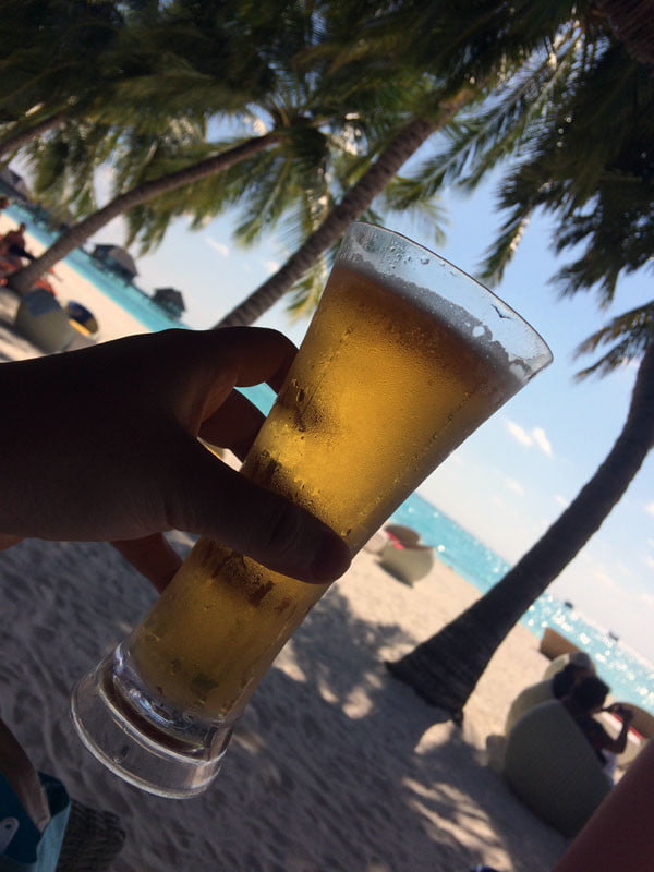 Club Med Kani Maldives Beer Tilt