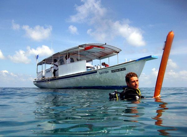Club Med Kani Maldives Diving Boat Surface