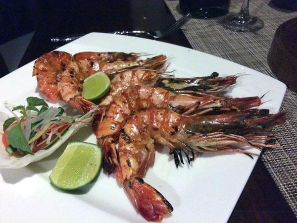 Bali Samabe Dinner Prawns