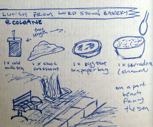 Macau Coloane Lord Stow Bakery Lunch Illustration