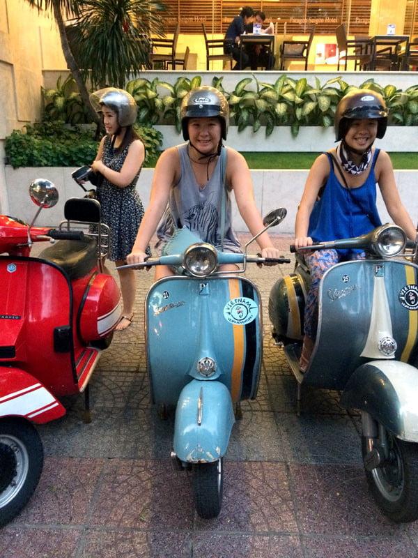 Vietnam Ho Chi Minh Vespa Posing Bike