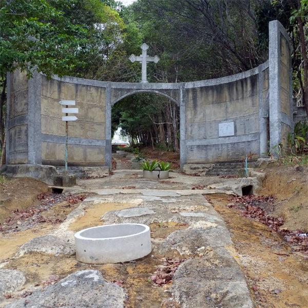 Bintan Grotto Santa Maria Cross