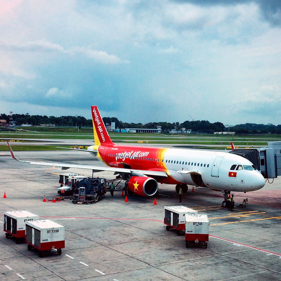 Flying to Ho Chi Minh on VietJetAir