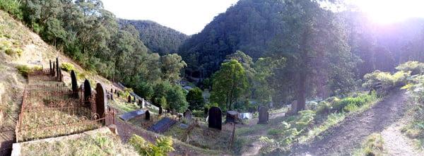 Gippsland Walhalla Cemetery Pano