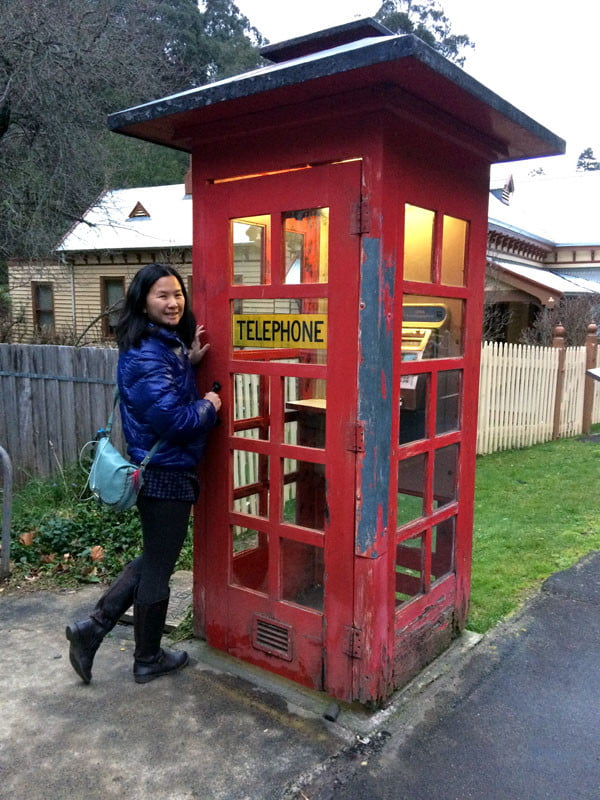 Gippsland Walhalla Phone Booth