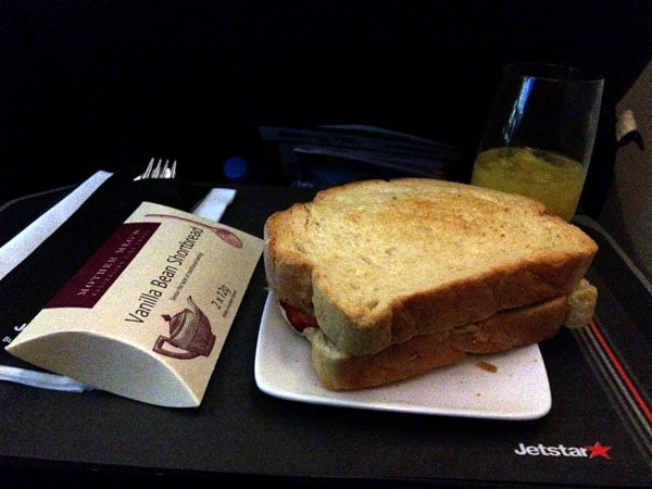 Jetstar Melbourne Food Sandwich