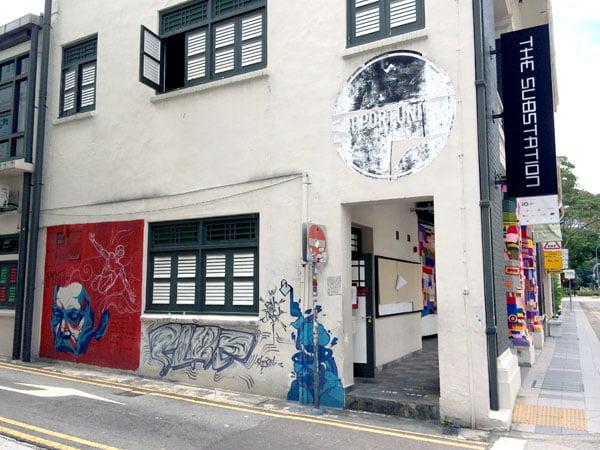 Singapore Street Art - Substation Side Wall Oct 2014