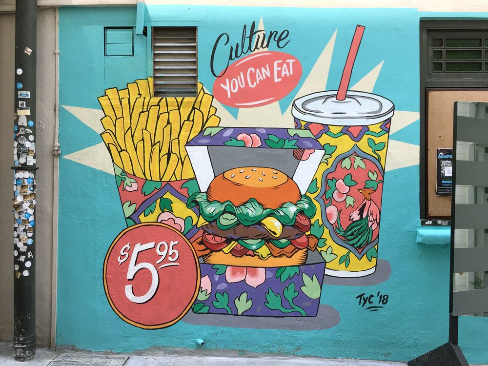 Singapore Street Art - Substation Side Wall TYC Culture Eat