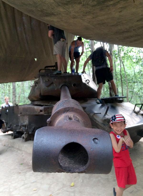 Vietnam Ho Chi Minh Cu Chi Tunnels Tank