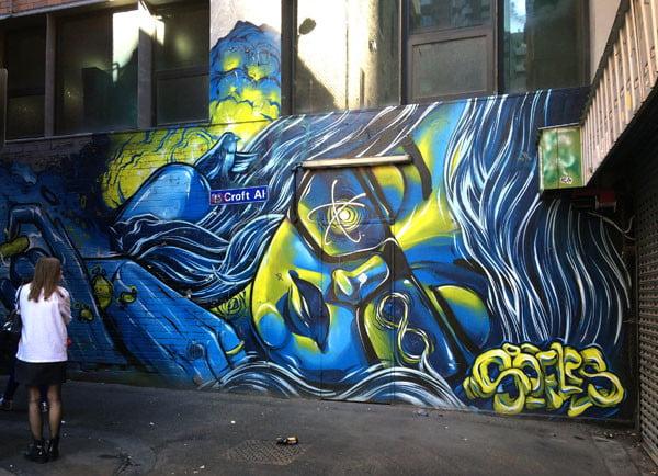Melbourne Street Art - Croft Alley Soeurs