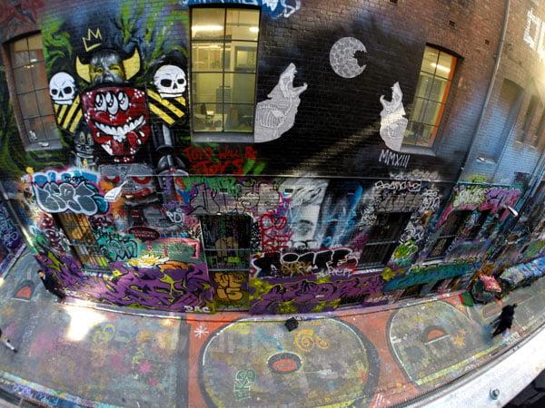 Melbourne Street Art - Rutledge Lane Carpark Looking Down