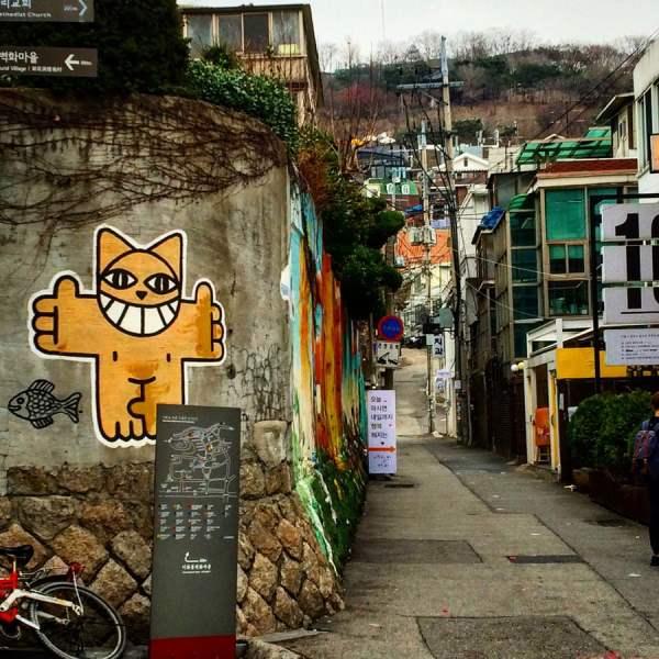 Seoul Ihwa Mural Village Mchat Slope