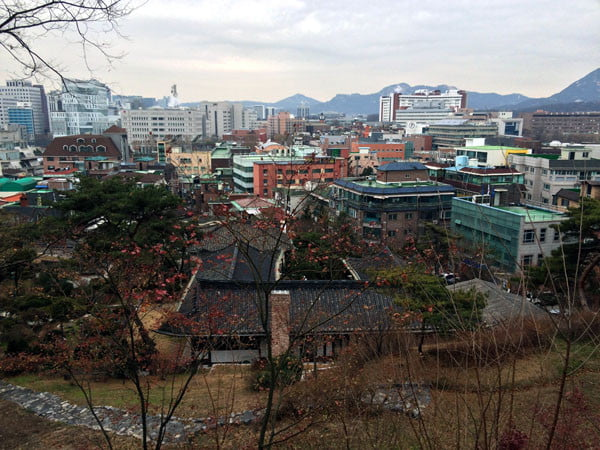 Seoul Ihwa Mural Village Naksan-gil view