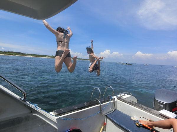 Bali Casio Snorkeling Jumpshot Duo Back