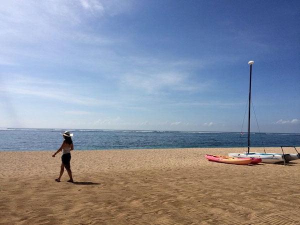 Bali St Regis Beach Sailboat