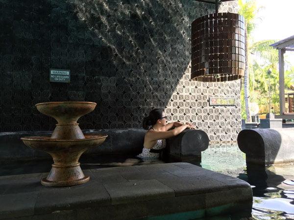 Bali St Regis Freshwater Pool Stone Sofa