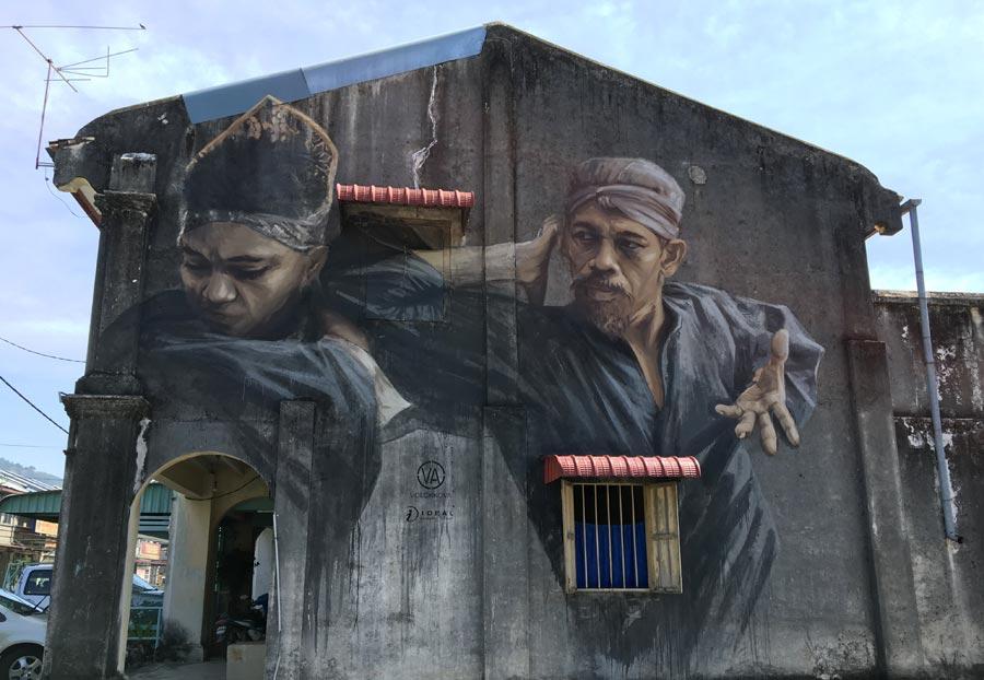 Penang Street Art - Balik Pulau Silat Master JuliaV large