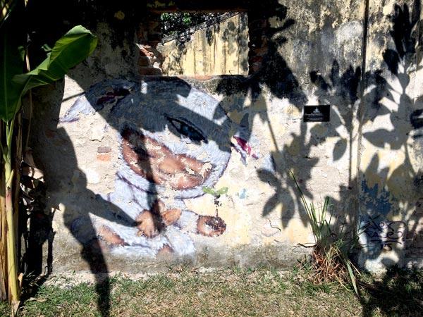 Penang Street Art - Hin Bus Depot Alexface Wall