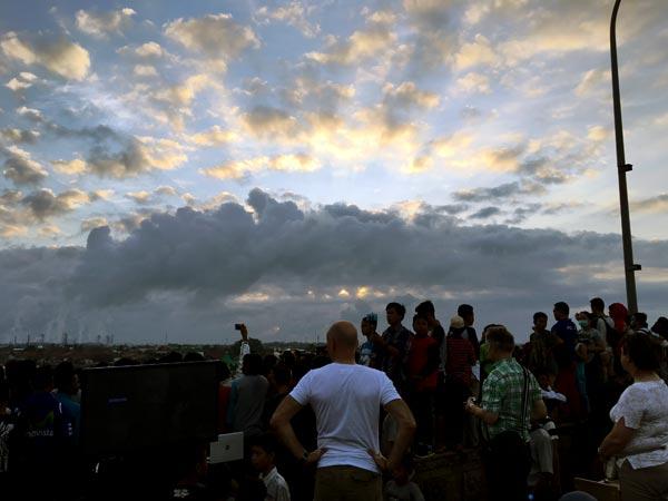 South Sumatra Palembang Eclipse Sunrise Cloudy