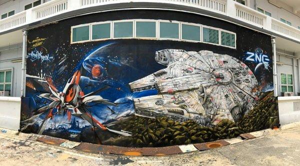 Singapore Street Art - Aliwal Slac Star Wars