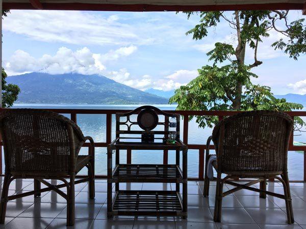 South Sumatra Ranau Lake Wisma Pusri Balcony View