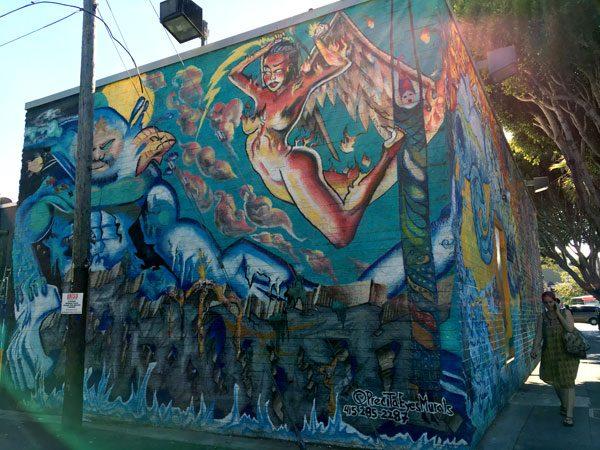 San Francisco Street Art Lilac 4