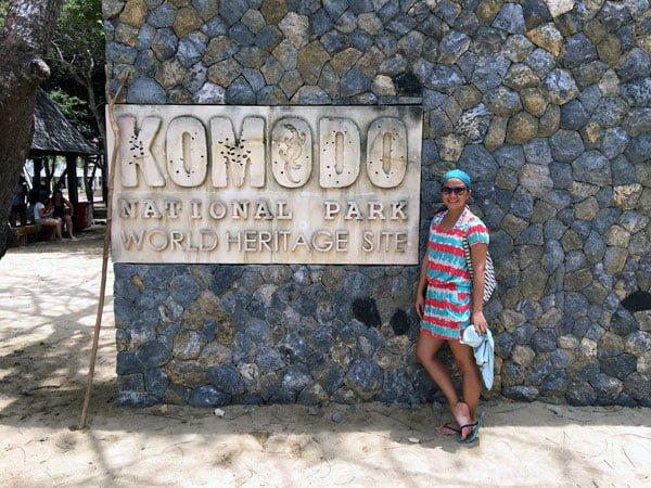 Komodo Loh Liang Entrance Sign