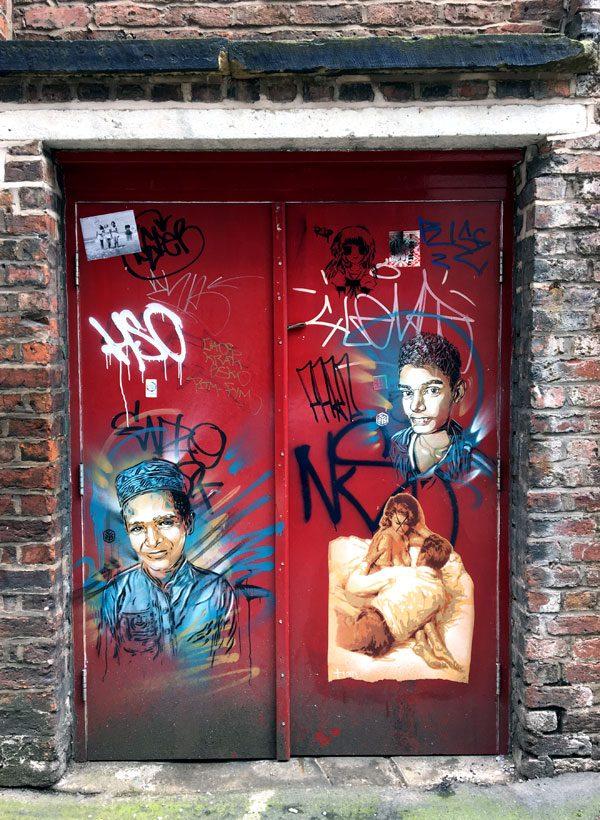 Manchester Street Art C215 Red Door
