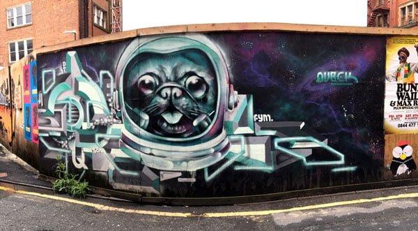 Manchester Street Art Pug